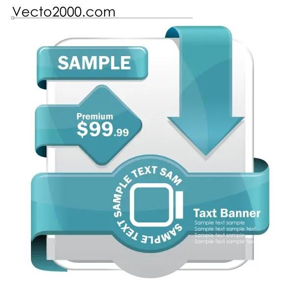 Free Vector Web Label Elements