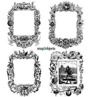 Floral Ornaments Vintage Frames Vector Graphics Free