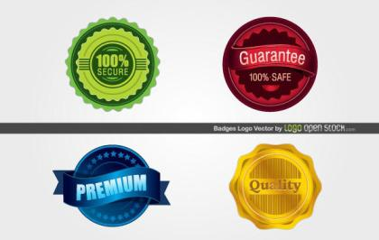 Free Badges Logo Vector Graphics
