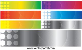 Free Vector Colorful Halftone Banner Design