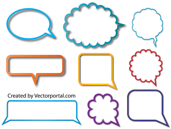 Speech Bubble Vector Illustrator Free