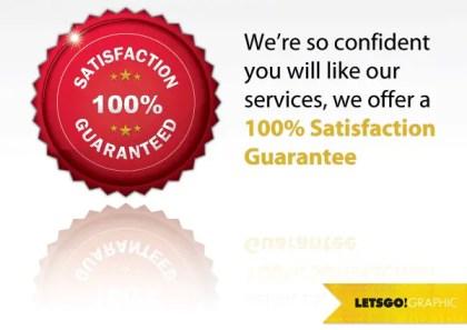 100 Percent Satisfaction Guarantee Seal Vector Free