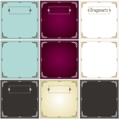 Ornament Swirl Border Design Frames Vector Free