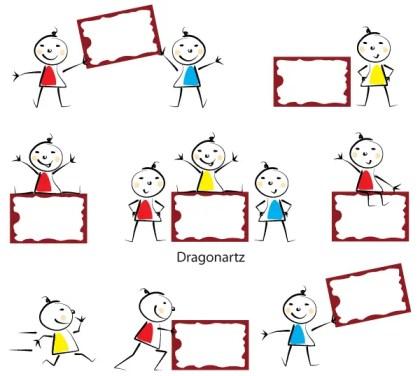 Kids Message Board Vector Free