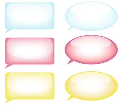 Speech Bubble Vector Resource Free