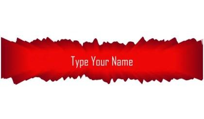 Free Name Board Vector