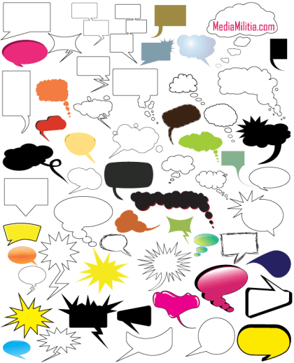 Thought and Speech Bubbles Free Vector Pack