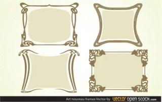 Free Art Nouveau Frames Vector