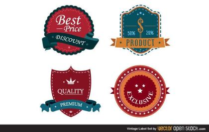 Free Vintage Label Vector Set