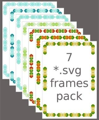 Floral Ornament Frame Vector Graphics