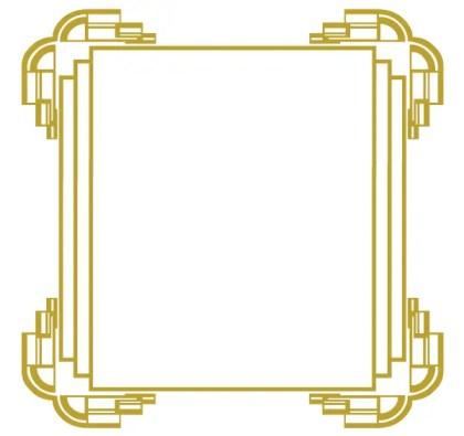 Golden Frame – Vector Freebie