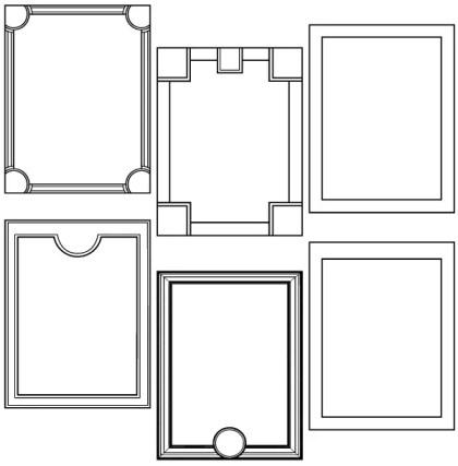 Free Vector Frames Pack