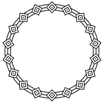 Deco Border Circle Frame Vector