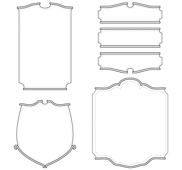 Old English Signs Vector Art