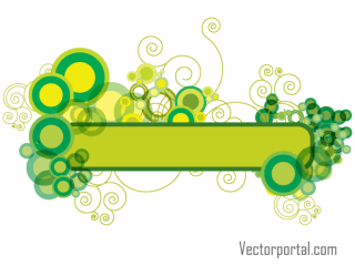 Green Abstract Floral Banner Design Vector