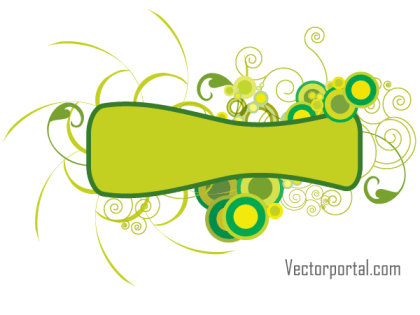 Green Abstract Floral Banner Vector Image
