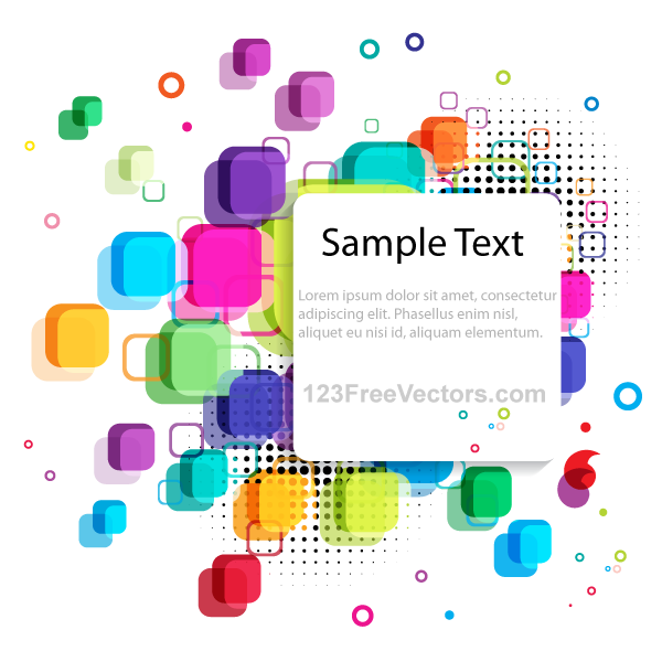 Vector Abstract Colorful Background Banner Design for Your Text