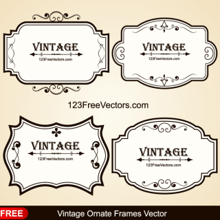 Vintage Ornate Frames Vector