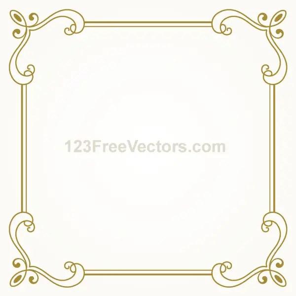 Vintage Gold Frame Design Vector Graphics