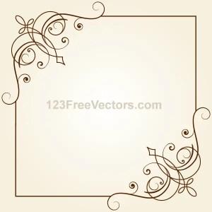 Vintage Floral Ornament Frame Vector Graphics