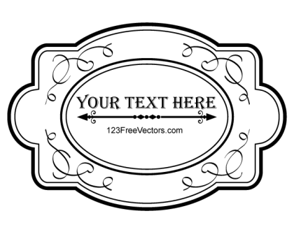 Ornate Frame Vector Graphics