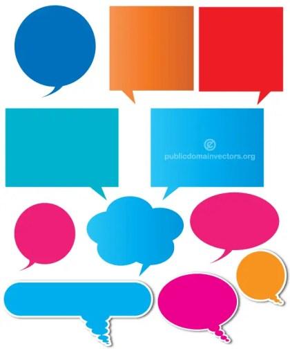 Color Speech Bubbles Vector Illustration