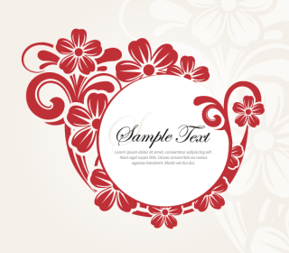 Stylish Circle Flower Banner Design Vector Template