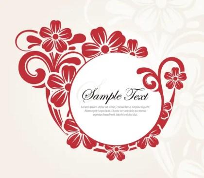 Stylish Circle Flower Banner Design Vector Template
