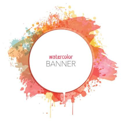 Watercolor Circle Banner Vector Image