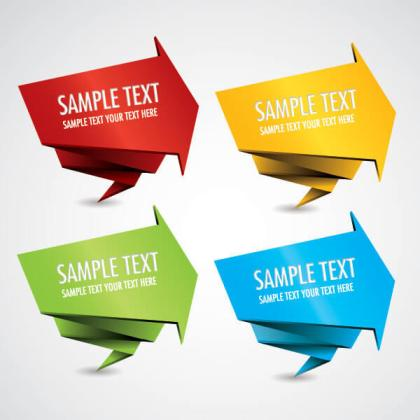 Origami Banners Vector Template