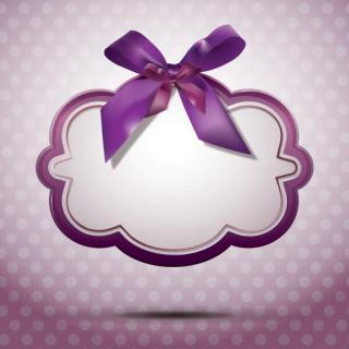 Ribbon Message Banner Background Vector