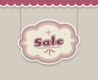Hanging Sale Banner Vector in Vintage Style