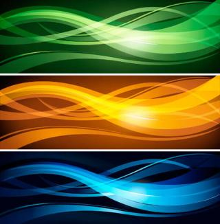 Abstract Wavy Lines Banner Header Vector Template Design