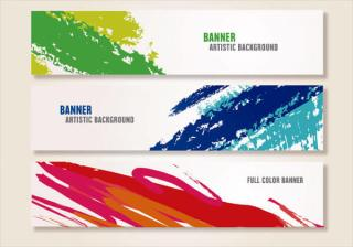 Paint Brush Strokes Header Images