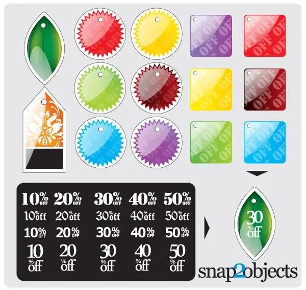 Free Vector Sticker Designs
