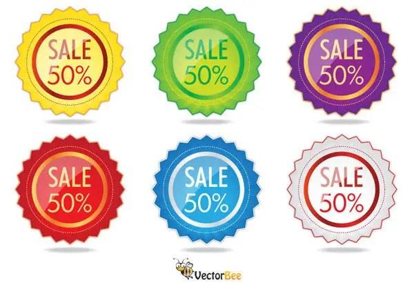 Sale Label Vector Free