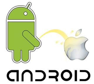 Android vs Apple Vector Resource