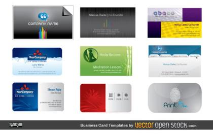 Business Card Templates Vector Free