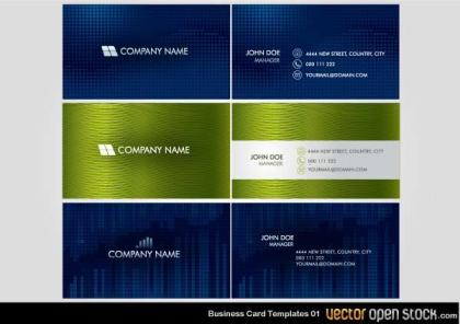 Free Vector Business Card Design Templates