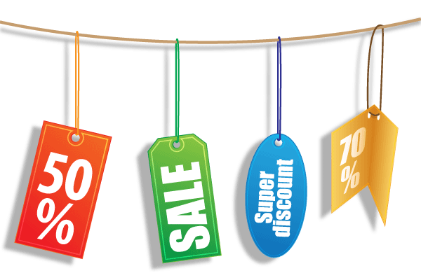 Discount Tags Vector Free