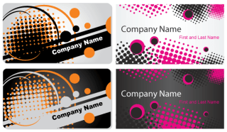 Abstract Business Card Vector Template