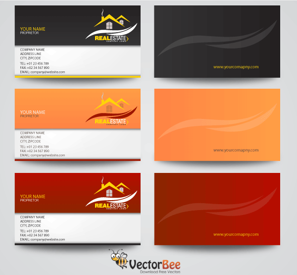 Real estate business card designs 123freevectors real estate business card designs reheart Image collections