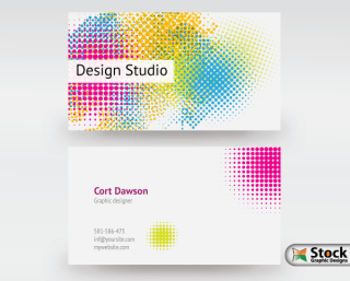Designer Business Card Vector