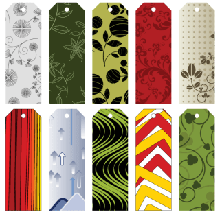 Free Gift Tags Vector and Bookmarks Collection
