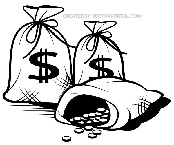 Money Bag Vector Art