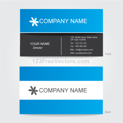 Corporate Business Card Template Illustrator