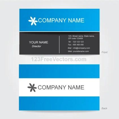 Corporate Business Card Template Illustrator