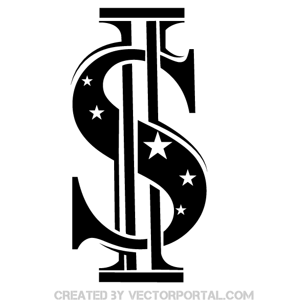 US Dollar Sign Vector Clip Art