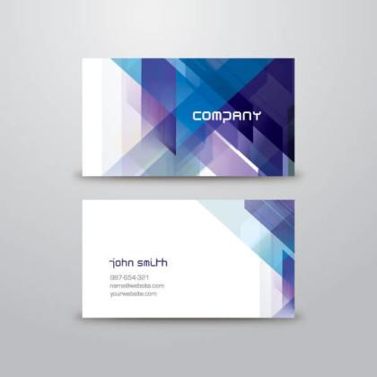 Blue Abstract Business Card Vector Template