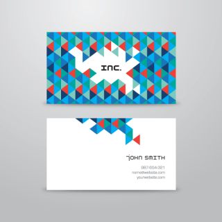 Abstract Triangular Business Card Template Vector
